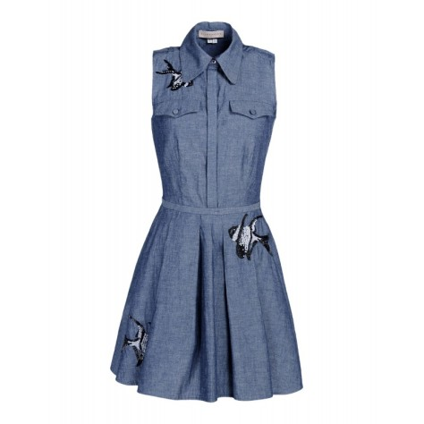 ELLE SASON denim dress
