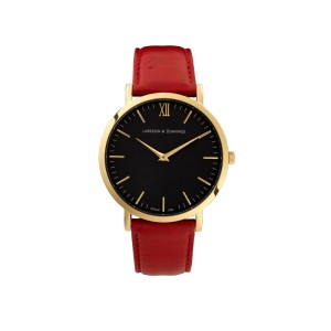 LARSSON&JENNINGS red keather watch € 299