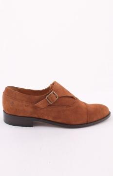 Monk Shoes Suede Brown