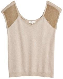 MARIE SIXTINE camiseta de punto bicolor