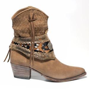 SENDRA BOOTS bota con cenefa piel de serpiente