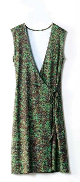 SOFTGREY para LA REDOUTE vestido cruzado con estampado tonos tierra