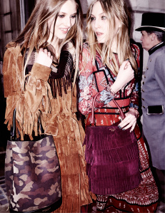 Florence Kosky and Ella Richards in the Burberry Autumn_Winter 2015 Campaign