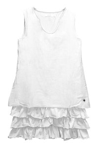 LUCKY vestido blanco con volantes ¡ideal!