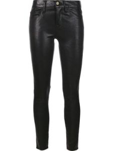 FRAME DENIM pantalones de cuero Noir