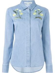 Stella McCartney camisa denim con bordados 490€