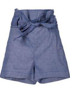 VIVIENNE WESTWOOD ANGLOMANIA shorts de talle alto con cinturón 608,44€