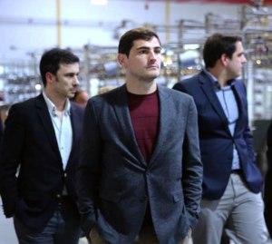 André Rodrigues, Dtor.Comercial de Impetus, Iker Casillas y Ricardo Figueiredo, Adjunto de Administración de Impetus