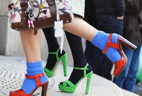 El calcetín ¡está de moda!