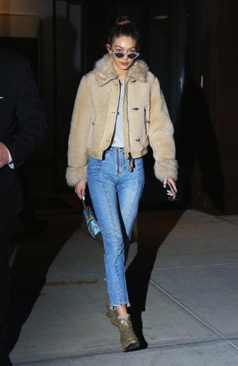 GIGI HADID sheepskin Jacket
