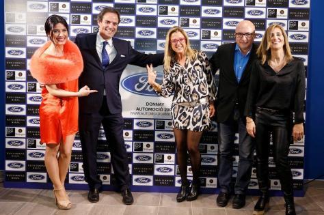 IMAGEN 9 (de izquierda a derecha): Ares Teixidó, José Luis Huguet (Gerente de Donnay), Anna Tarrés, Sergi Mas y Belén Larruy.