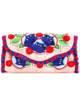 TORY BURCH clutch con solapa y bordados 360€