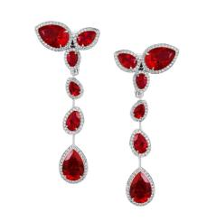 AS By Penelope Cruz, Created Ruby Long Drop Earrings