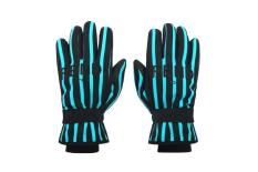 07_Leisurewear FW18-19_W black and blue striped technical gloves
