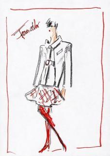 FENDI FW19-20 . boceto by Karl Lagerfeld